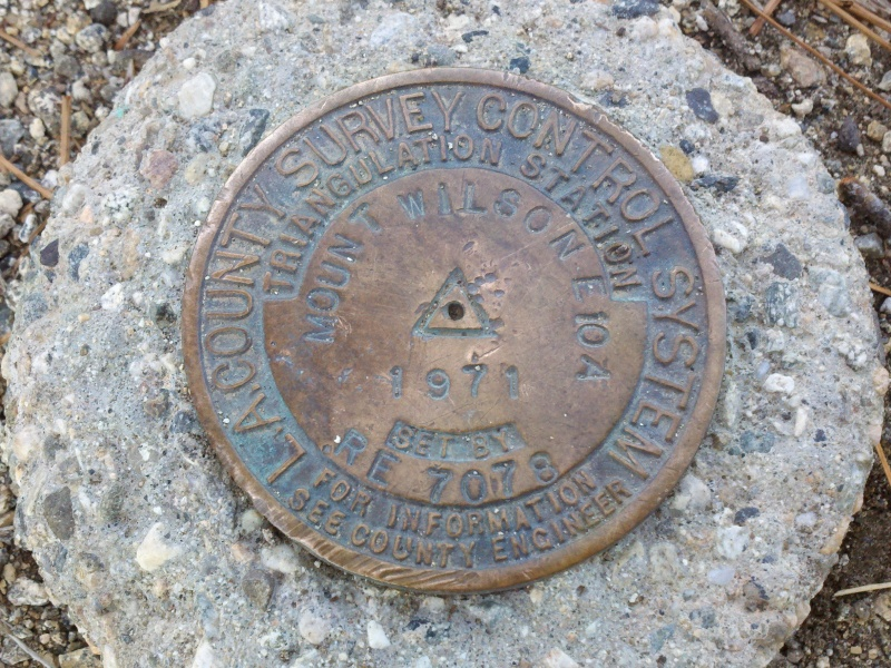 Mount Wilson • Summit Marker