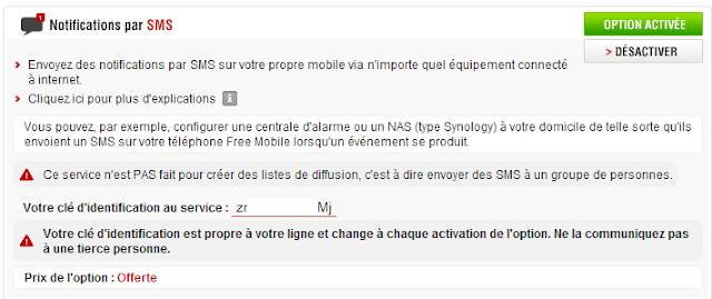 free5 A relire : Notification SMS avec Free  avec la Eedomus