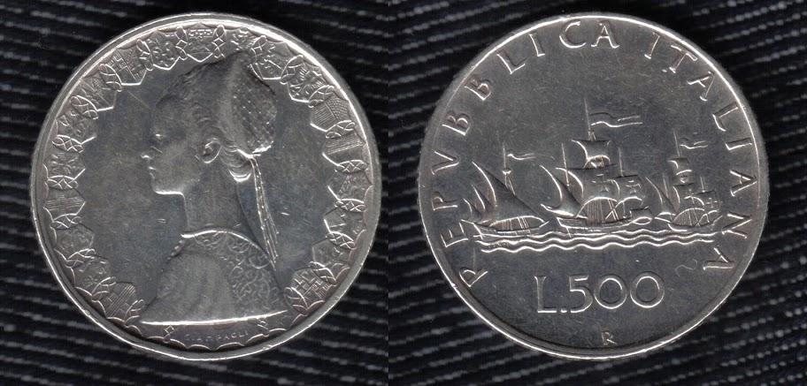 Mi colección de monedas italianas. 500%20liras%201959