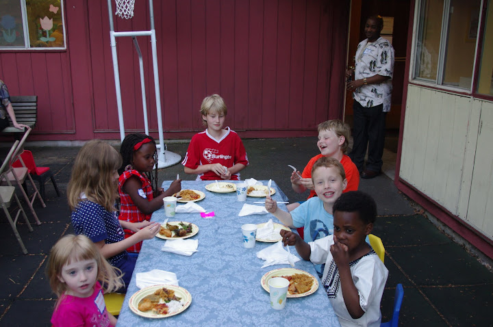 Some of the kids enjoy one of our summer fellowship events