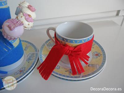 Inspiración para decorar tazas.