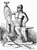Θεός της μηχανικής της φωτιάς και του σιδήρου, θεός των ηφαιστείων, πολυτεχνίτης,God Hephaestus.