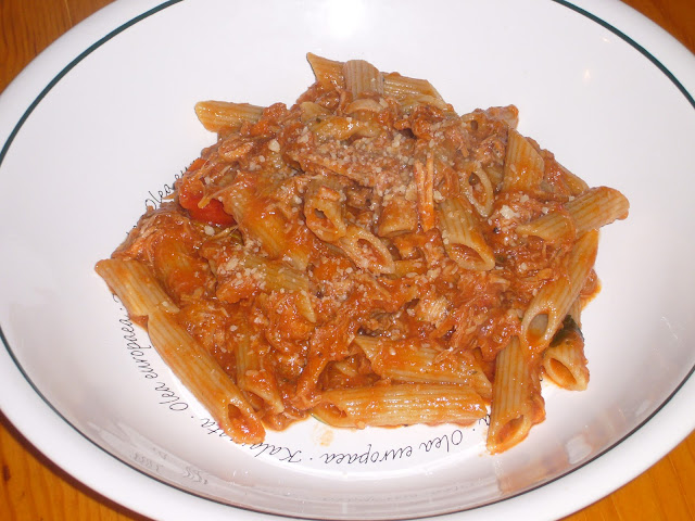 Penne Pasta with Pork Ragu