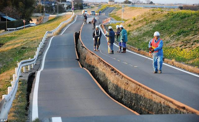grieta 10 fotos sorprendentes del terremoto de Japón