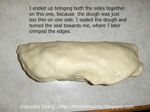 photo of sealed calzone dough