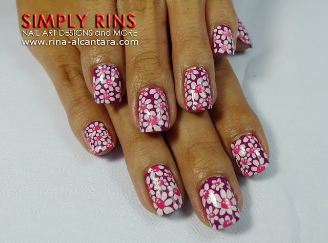 Flower Power Nail Art Design 04