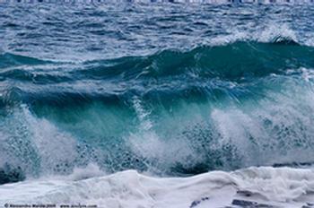 Bianche onde spumeggianti.