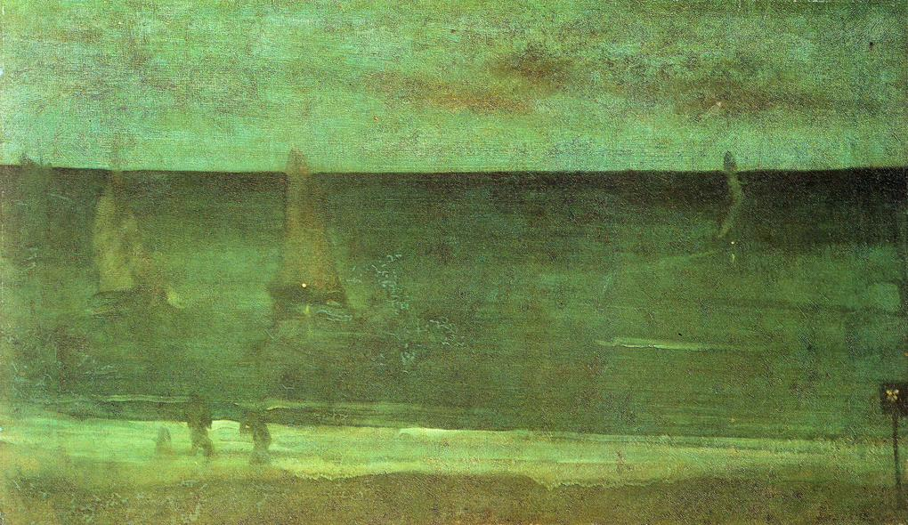 James Abbott McNeill Whistler - Nocturne. Blue and Silver - Bognor