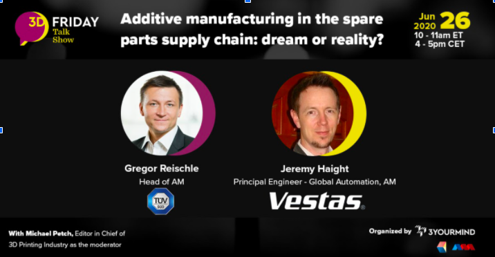 """Webinar 3YOURMIND Additive Manufacturing in the Parts Supply Chain: Dream or Reality?"""""""