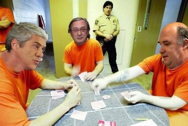 Cartoons - José Sócrates, Carlos Cruz e Vale e Azevedo na prisão