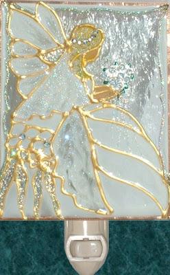 fairy in wedding gown