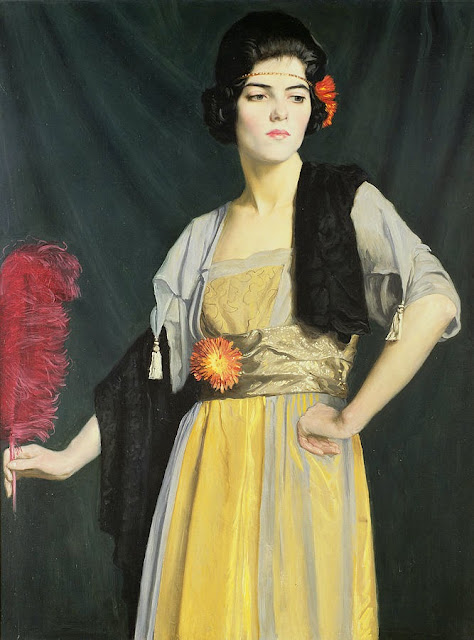William Strang - The Feather Fan 1910