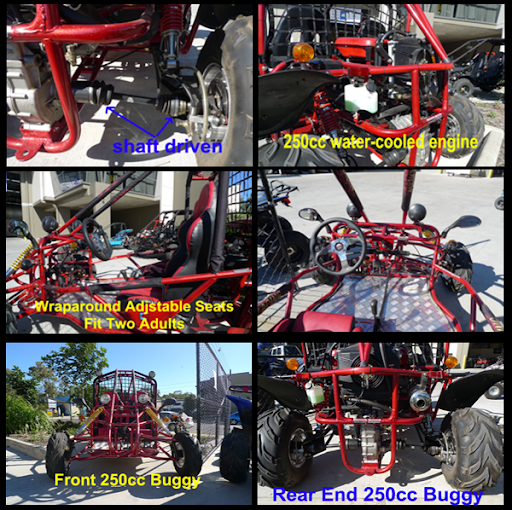 250cc Watercooled GK Kandi Shaft Drive Independent rear suspension Offroad Dune Buggy Go Cart