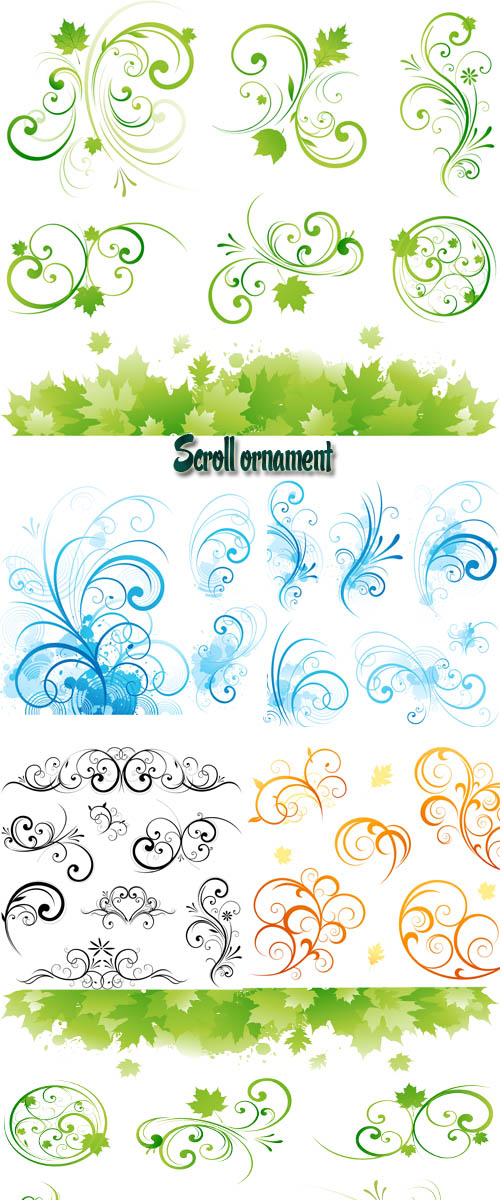 Stock: Scroll ornament