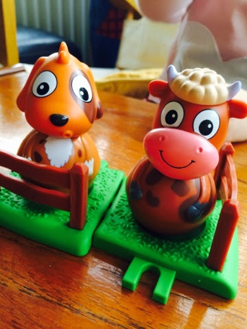 Weebles Weebledown Farm Patch the Dog and Buttercup the Cow Review with Maegan Clement and Blake Clement