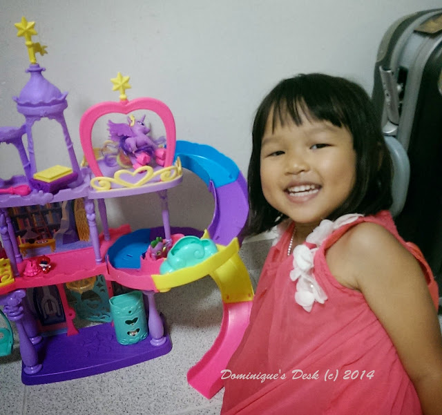Tiger girl with her My Little Pony playset