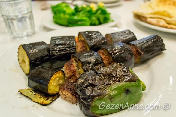 İmam Çağdaş'ta yediğimiz patlıcan kebabı, Gaziantep
