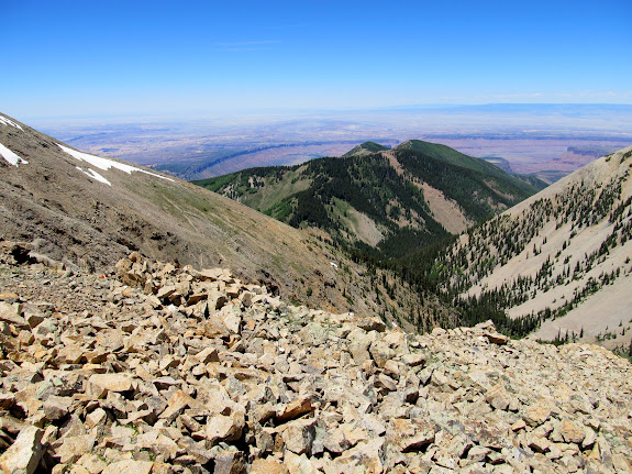 View north from the saddle toward Horse Mountain
