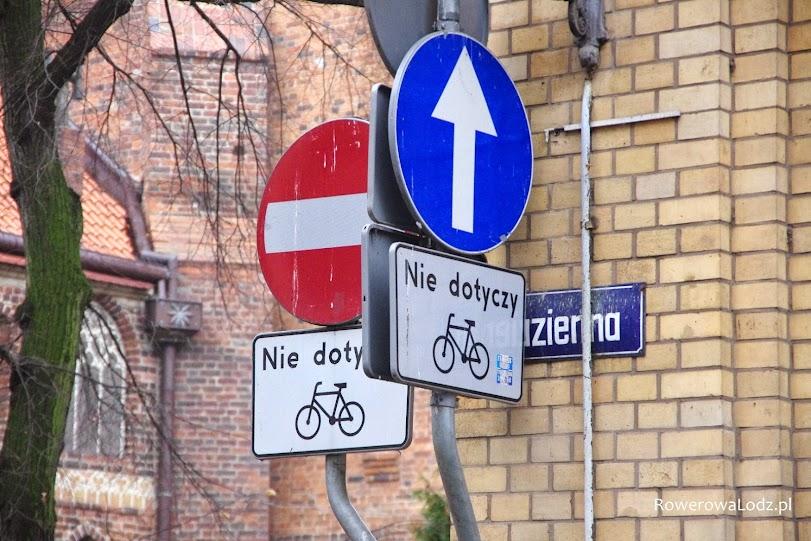 Dopuszczenie ruchu rowerów w obu kierunkach na ulicach wyznacza się jedynie znakami pionowymi.