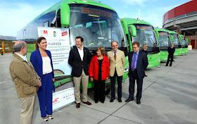 10 nuevos autobuses interurbanos para siete municipios del noroeste de la región