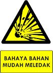 Rambu Bahaya Bahan Mudah Meledak