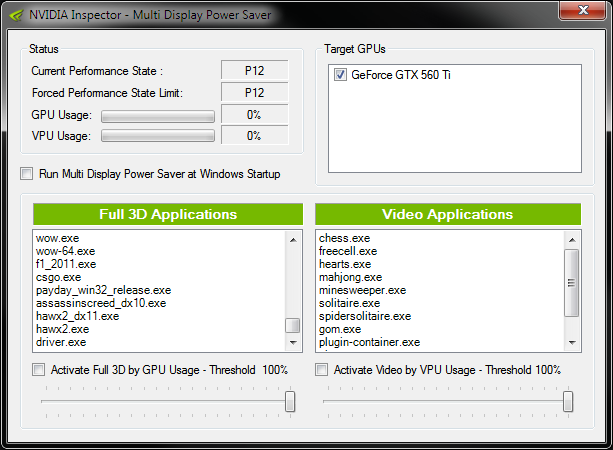 Enable Power-Saving Mode on NVIDIA GPUs with Multiple