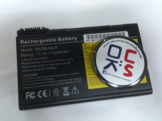 Battery bateri for Acer Aspire 3100 3690 5100 5110 5610
