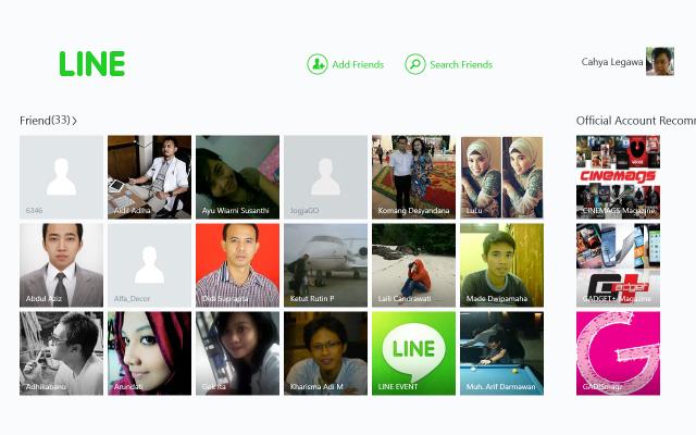 LINE Windows 8