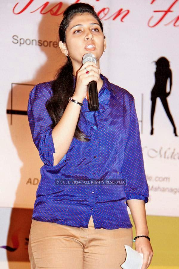 Shivani during a fashion show, held at a Management institute, in the city.