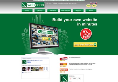 Webeden.co.uk free online website builders