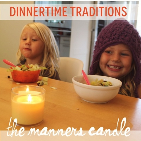 The Manners Candle: It's a pretty easy concept: the candle stays lit as long as they are using appropriate table manners. If someone gets unruly, the candle is blown out.
