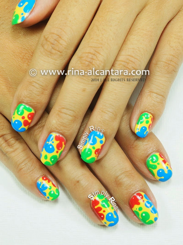 Splash of Colors Nail Art Design by Simply Rins