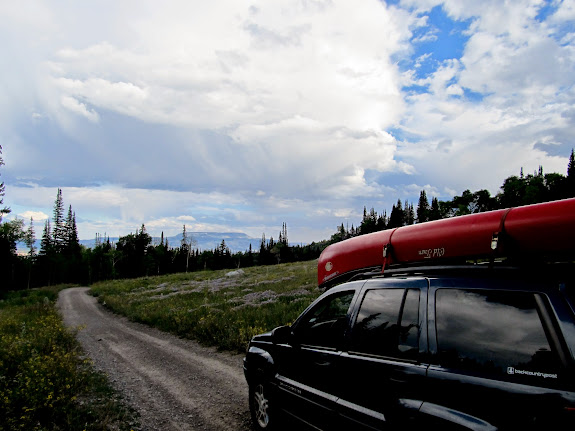 Jeep near Grassy Lake