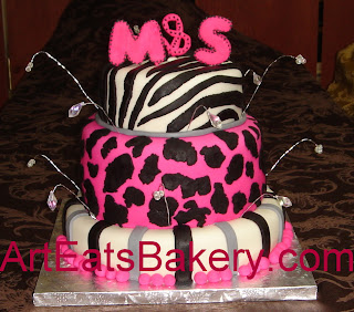 Sensational Animal Print Birthday Cakes Art Eats Bakery Taylors Sc Funny Birthday Cards Online Elaedamsfinfo