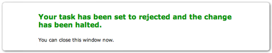 Task Set to Rejected