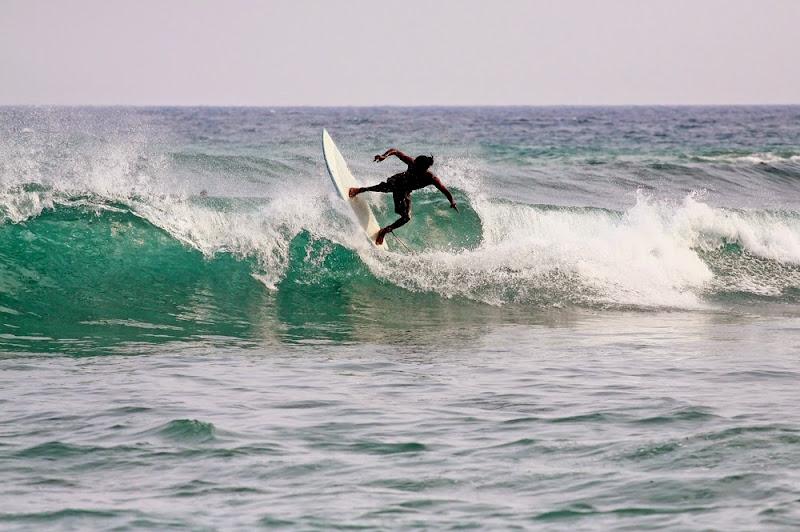 Surfer in Mirissa Beach