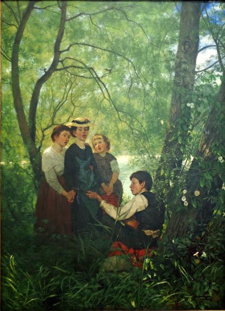 Hans Thoma - Gesang im Grünen