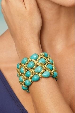 Bijoux fantaisie bracelet turquoise