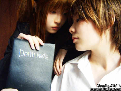 death note cosplay - amane misa and yagami light