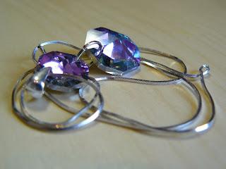 biżuteria z półfabrykatów - różowy blask (wisiorek)