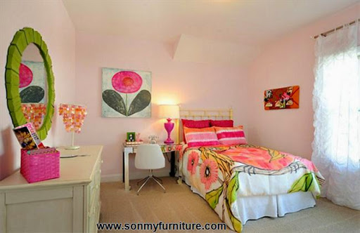Rộn ràng hoa lá trong phòng ngủ mùa xuân hè_nội thất phòng ngủ-9