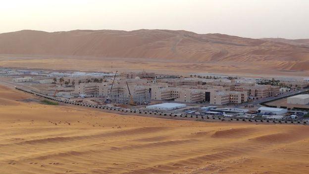 Месторождение Шайбах в Аравийской пустыне