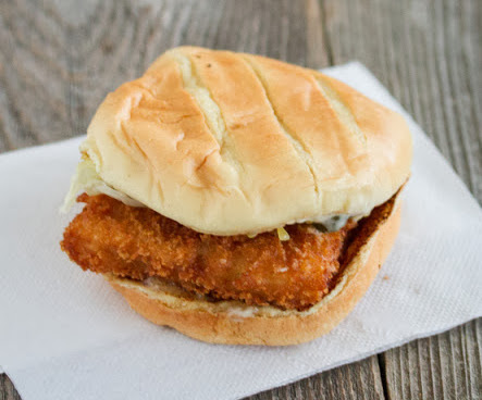 Fast food fish sandwiches round up and a giveaway kirbie for Jack in the box fish sandwich