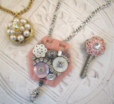 repurposed vintage jewelry