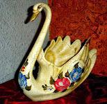 cisne-en ceramica envejecida- de