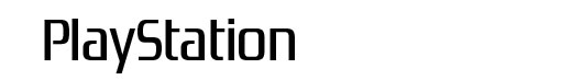 Zrnic Playstation logo font