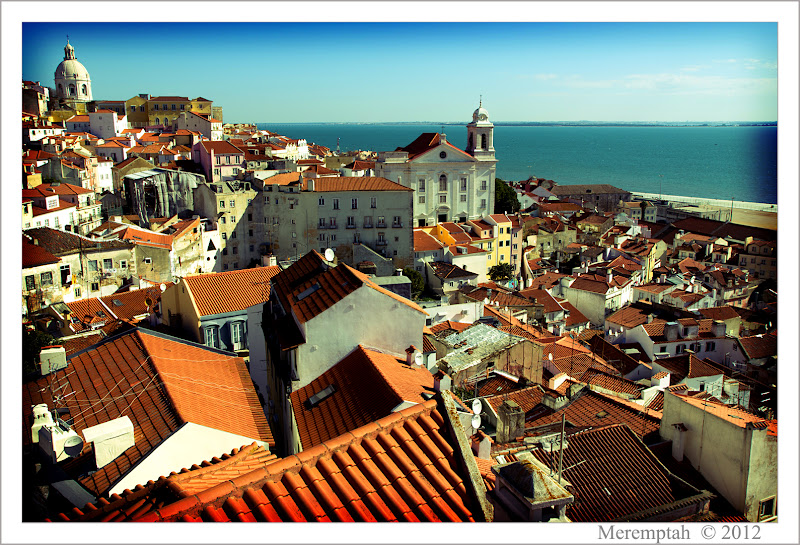 Telhados Toits Alfama Lisbonne