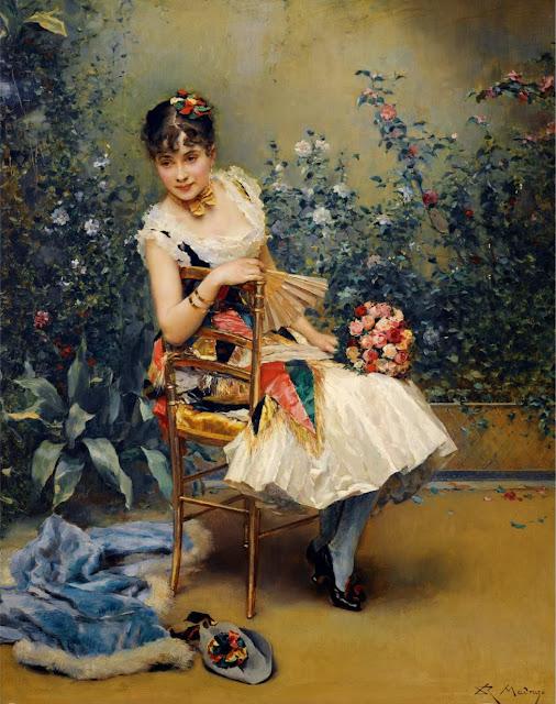 Raimundo Madrazo - Aline con flores