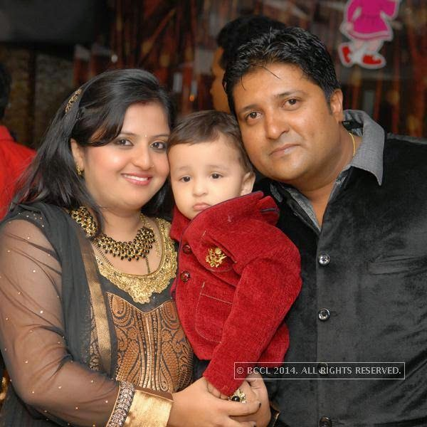 Prachi and Pranjal Khorgade with son Vihaan during his first birthday bash at M's Repose, in Nagpur.