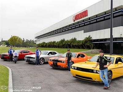 JOrge Lornzo, Ben Spies, Cal Crutchlow, Andrea Dovizioso, Hemi-powered Dodge Challengers